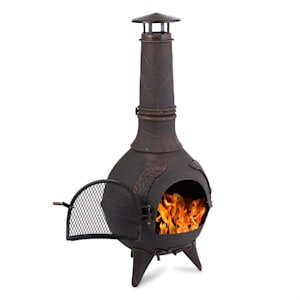 Augustus Garden Stove Terrace Stove Cast Iron 120 cm Antique Design bronze