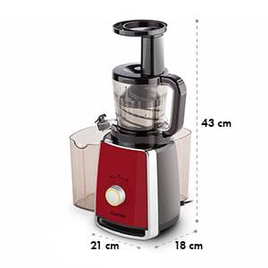 Sweetheart slow juicer gyümölcsfacsaró, 150 W, 32 fordulat/perc, vörös