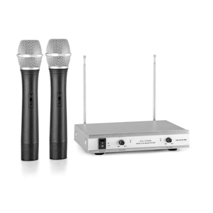 VHF-2-H 2-Channel VHF Wireless Microphone Set 2 x Hand Microphone 50m
