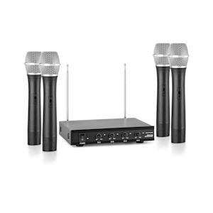 VHF-4-H 4-Channel VHF Wireless Microphone Set 4 x Hand Microphone 50m