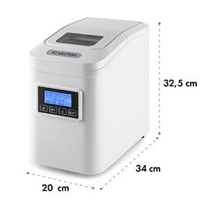 Klarstein Lannister, fehér, jégkocka készítő gép, 10 kg/24 h