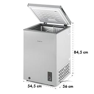 Iceblokk Congélateur coffre 100 litres 75W classe A+ - gris