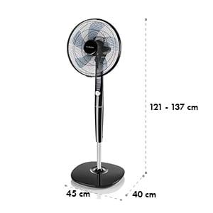 """Silent Storm, stojanový ventilátor, 16"""" (41 cm), 5-listá vrtuľa, 80 m³, 35 W, čierny"""