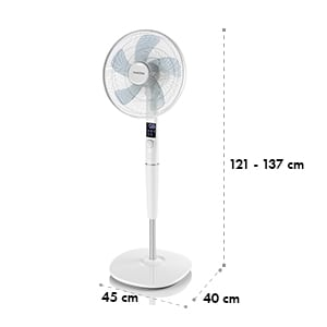 """Silent Storm Stand-alone Fan 16""""(41cm) 5 blade rotor 35W 80m³ white"""