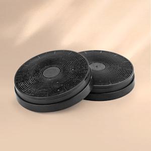 Aktivkohlefilter für Dunstabzugshauben Ersatzteil 2 Filter Ø17,5 cm