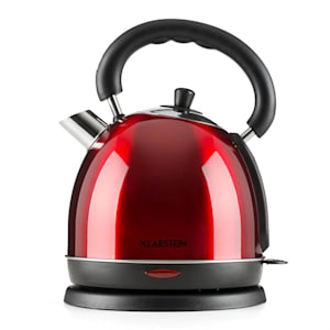Teatime Electric Kettle Tea Kettle 1850 W 1.8L Stainless Steel Ruby Red