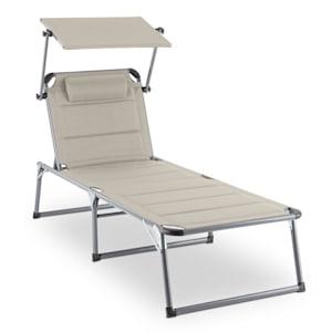 Amalfi creamy sun lounger 70x37x200cm sunblinds Beige