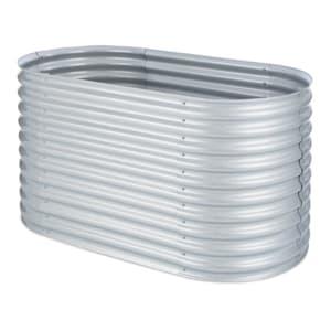 High Grow Fioriera Rialzata 1,6m Rivestimento zinco-alluminio argento