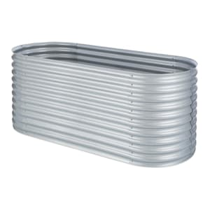 High Grow Raised Planter 2.0m zinc-aluminum coating silver