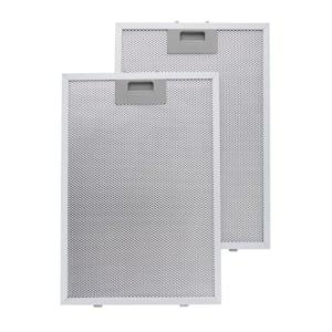 Set 2 filtres à graisse de rechange en aluminium pour hotte 26 x 37 cm