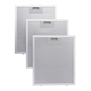 Set 2 filtres à graisse en aluminium pour hotte de cuisine 26 x 37cm