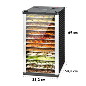 Fruit Jerky 14, fekete, 1000 W, szárítógép, 14 emelet nemesacélból