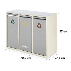 Ordnungshütter 3, 45 l, krémovo-béžová, box na triedený odpad, 3 x 15 l