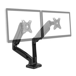 "LDT13-C024USB Doppel-Monitor-Tischhalterung LED LCD 27"" 2x6.5kg"