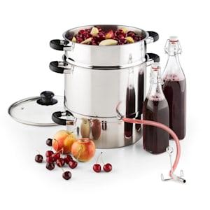 Applebee Extracteur de jus électrique à vapeur 1500w 8 litres inox