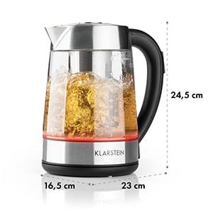 Ostfriese vízforraló, 2-in-1 teafőző, 2200 W, LED, nemesacél, üveg