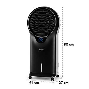 Whirlwind 3-in-1 Luftkühler Ventilator Luftbefeuchter 1600 m³/h | 90 Watt | 5,5 Liter | 3 Geschwindigkeiten | Oszillation | mobil | Fernbedienung