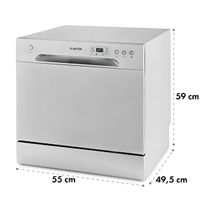 Amazonia 8 Dishwasher Mini Dishwasher A + 1620W Silver