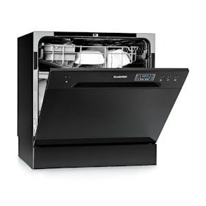 Amazonia 8 Geschirrspülmaschine Mini-Geschirrspüler | 1620 Watt |  für 8 Maßgedecke | Betriebsgeräusch: 49 dB | Maße: 55 x 59 x 49,5 cm (BxHxT) | Standgerät  | Aquastop