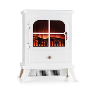 St. Moritz Electric Fireplace 1650W/1850W Flame Illusion Smoke-Free White