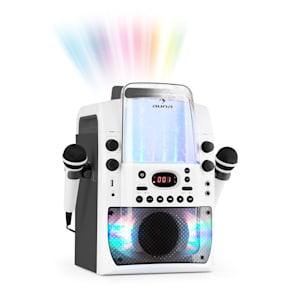 Kara Liquida BT Karaoke-Anlage Lichtshow Wasserfontäne Bluetooth weiß/grau