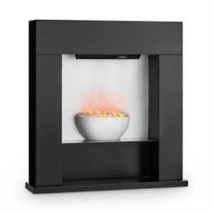 Studio-8, elektrický krb, 2000 W, ilúzia plameňov, 40 m², MDF, čierny