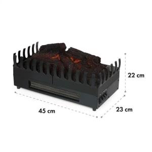 Kamini FX Elektrischer Kamin Kamineinsatz 1000/2000W 2W LED schwarz