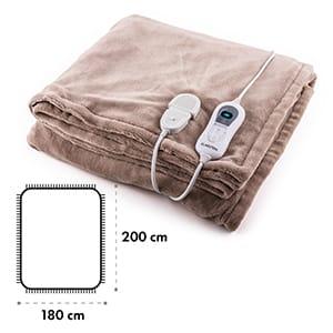 Dr. Watson XXL výhřevná deka 120 W, pratelná, 200x180 cm, mikroplyš, béžová barva