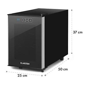 Ceres Weinkühlschrank 16 Liter 6 Flaschen Touch 38 dB Glastür schwarz