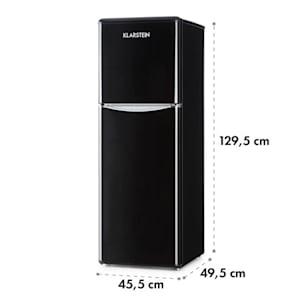 Monroe XL Black, kombiniran hladilnik, zamrzovalnik, 97/39 l, A+, retro oblika, črna barva