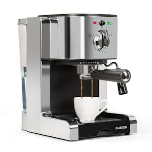 Passionata Rossa 15 espresso machine 15 bar capuccino milk foam silver