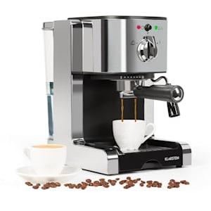 Passionata 15 Espressomaschine 15 bar Capuccino Milchschaum silber