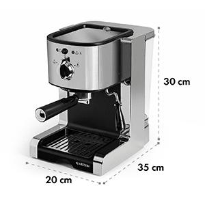 Passionata 15, espresso kávovar, 15 barů, cappuccino, mléčná pěna, stříbrný