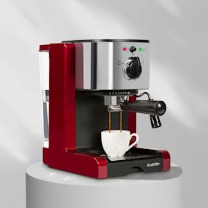 Klarstein Passionata 15 Maszyna do espresso 15 barów capuccino spieniacz mleka czerwony