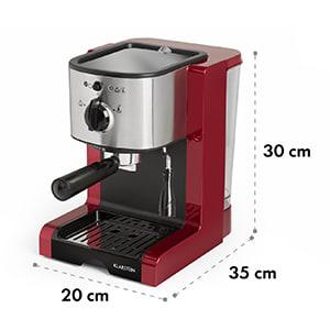 Passionata Rossa 20 Espressomaschine 20 bar Capuccino Milchschaum rot