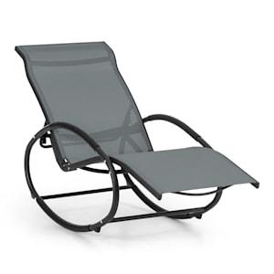 Santorini, hojdacie kreslo, ležadlo, hliník, polyester, šedé
