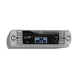 KR-400 CD Radio de cocina, DAB+/PLL FM, Reproductor de CD/MP3 Plata
