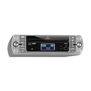 KR-400 CD Küchenradio, DAB+/PLL FM, CD/Mp3-Player silber