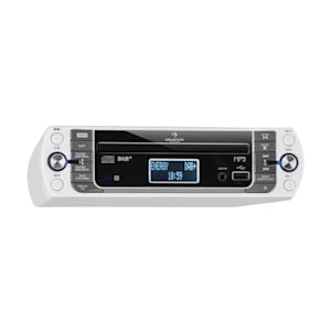 KR-400 CD Radio de cocina, DAB+/PLL FM, Reproductor de CD/MP3 Plata