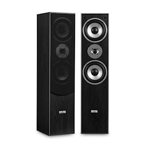 L766 3-Way Bass Reflex HiFi Speaker Pair Black