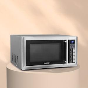 Klarstein Brilliance Pro Kuchenka mikrofalowa 43 l grill tryb powietrza obiegowego panel dotykowy stal szlachetna
