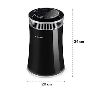 Arosa, čistička vzduchu, ionizátor, UV lampa, automatický režim/režim počas spánku, čierna