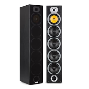 V7B 4-way Bass Reflex Tower Speakers 440W Detachable Front Panel Black