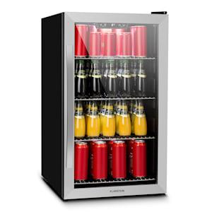 Beersafe 4XL Frigorífico Bebidas | volume: 124 litros | 4 prateleiras metálicas cromadas | temperatura interior regulável de 3 a 10 °C | porta de vidro com duplo isolamento | independente | painel touch | LED | Frente de aço inoxidável