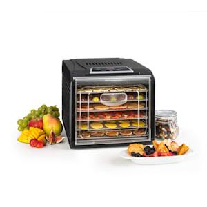 Fruit Jerky Plus 6 gyümölcsszárító gép, időzítő, 6 polc, fémlemez, 420-500 W, fekete