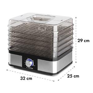 Valle Deluxe uscător de fructe din oțel inoxidabil 250W deshidrator 5 etaje