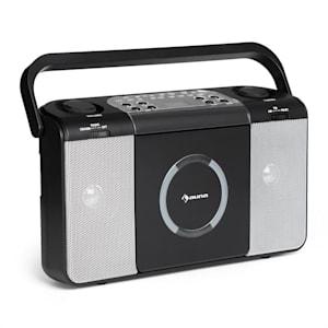 Boomtown USB Poste radio FM et lecteur CD portable MP3 - noir