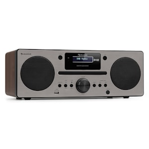 Harvard Micro System DAB + FM Tuner CD Player USB Charger Walnut