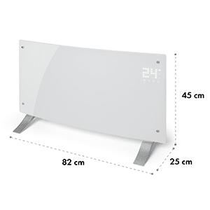 Bornholm Curved, konvektor, termostat, časovač, 2000 W, biely