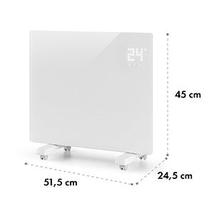 Bornholm Single konvekciós hősugárzó, termosztát, időzítő, 1000 W, fehér